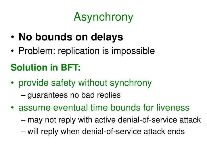 Asynchrony