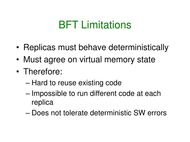 BFT Limitations