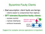 byzantine faulty clients