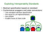 exploiting interoperability standards