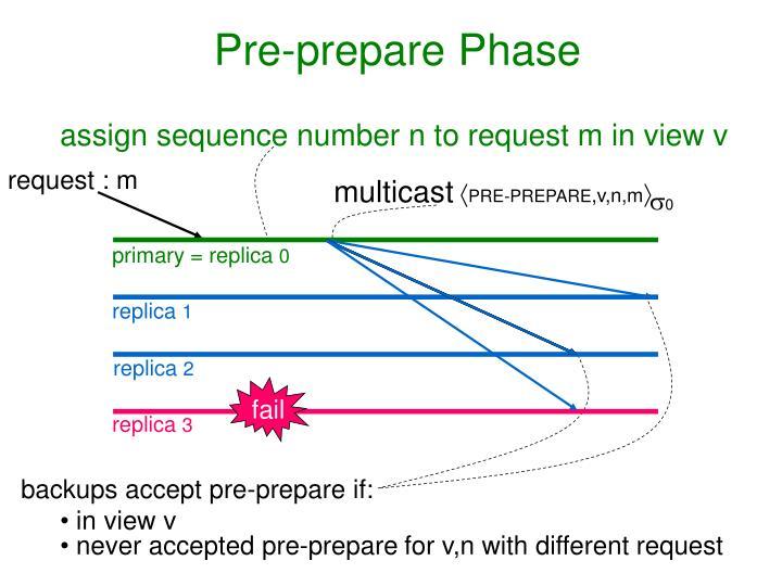 Pre-prepare Phase