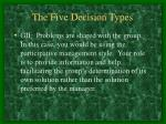 the five decision types2