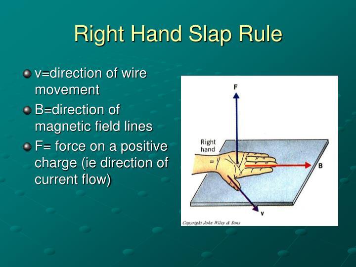 Right Hand Slap Rule
