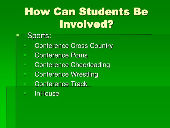 How Can Students Be Involved?