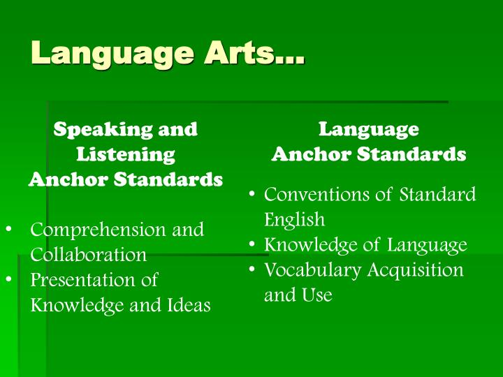 Language Arts…