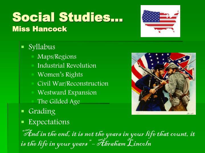 Social Studies…