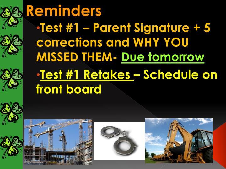Reminders