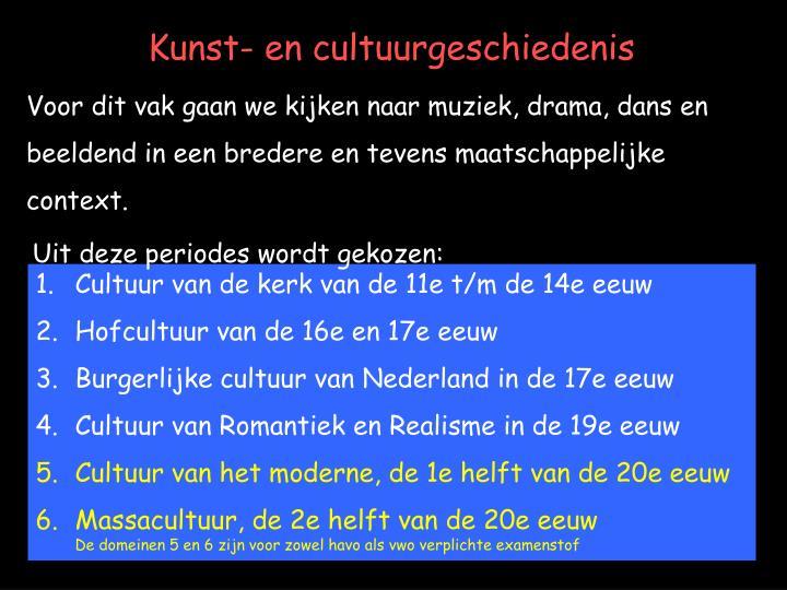Kunst- en cultuurgeschiedenis
