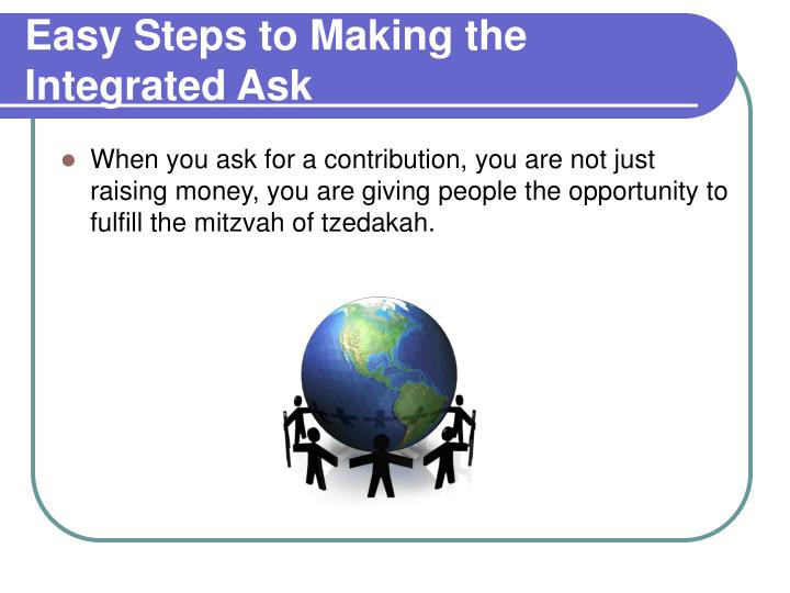 Easy Steps to Making the Integrated Ask