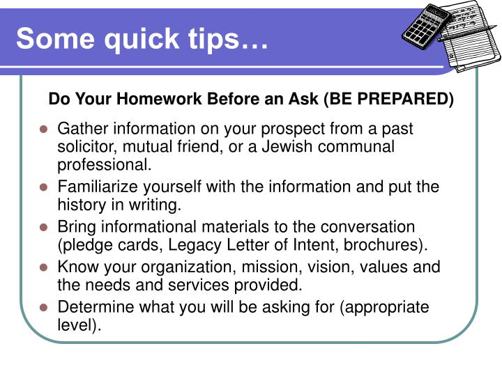 Some quick tips…