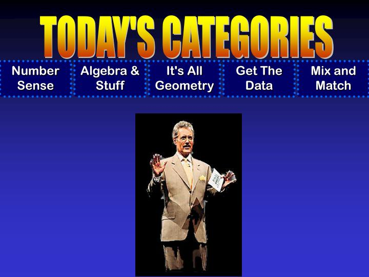 TODAY'S CATEGORIES