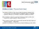 children in care physical health need