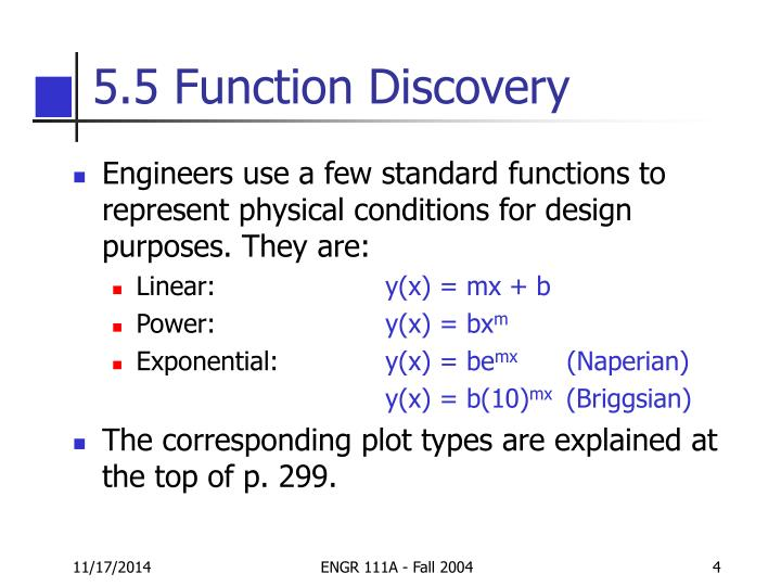 5.5 Function Discovery