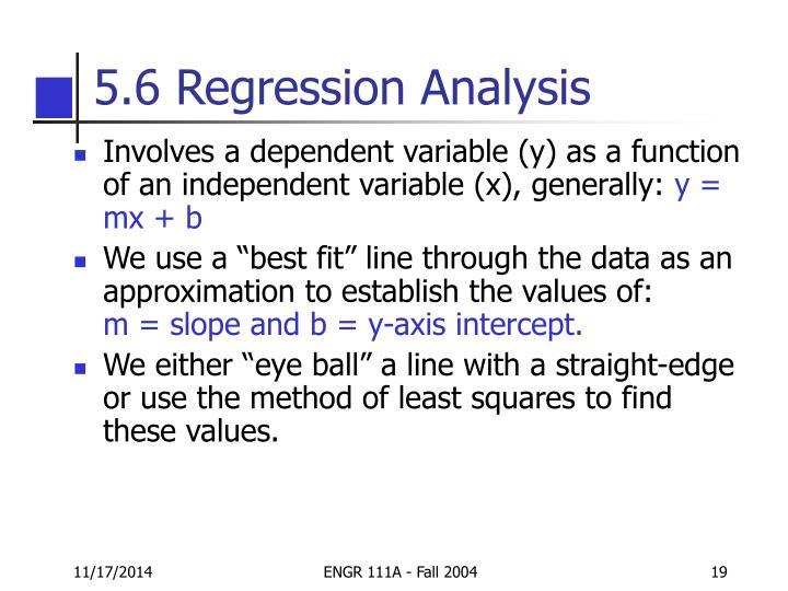 5.6 Regression Analysis