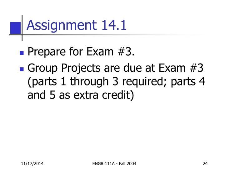 Assignment 14.1