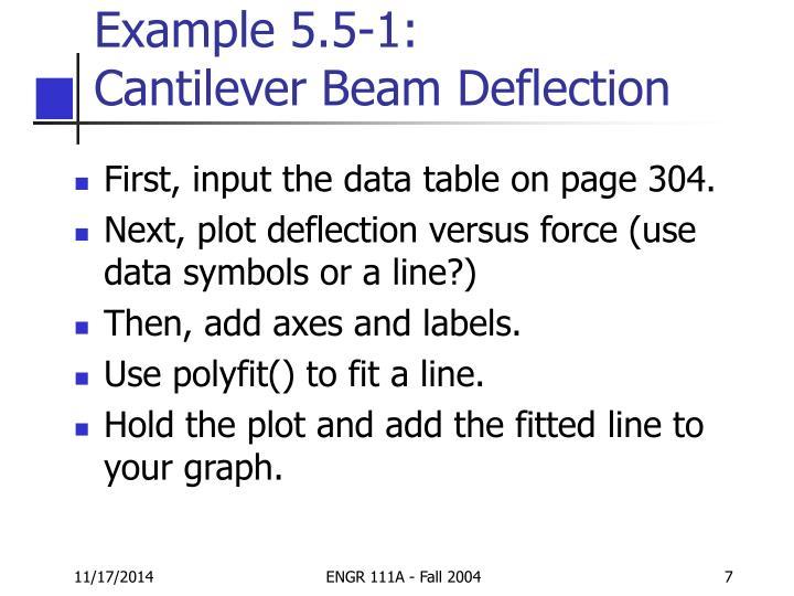 Example 5.5-1: