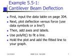 example 5 5 1 cantilever beam deflection