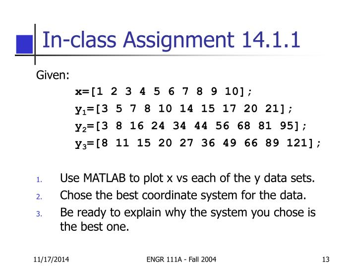In-class Assignment 14.1.1