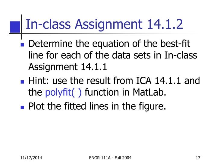 In-class Assignment 14.1.2