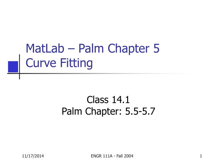 matlab palm chapter 5 curve fitting
