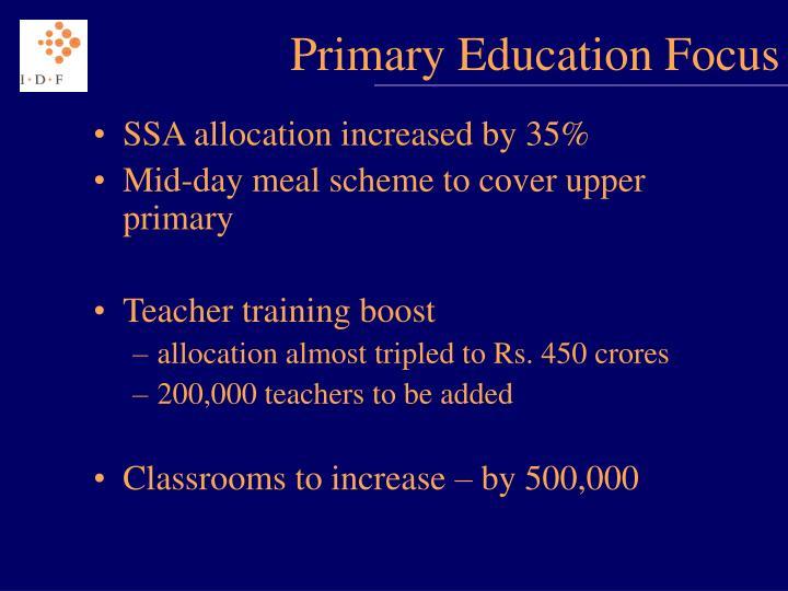 Primary Education Focus