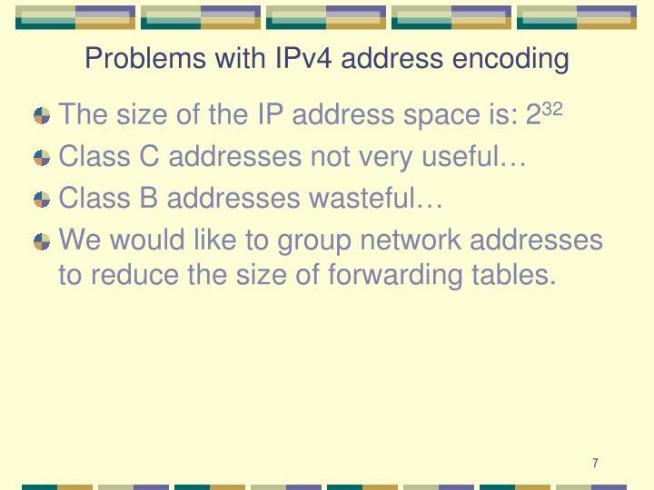 Problems with IPv4 address encoding