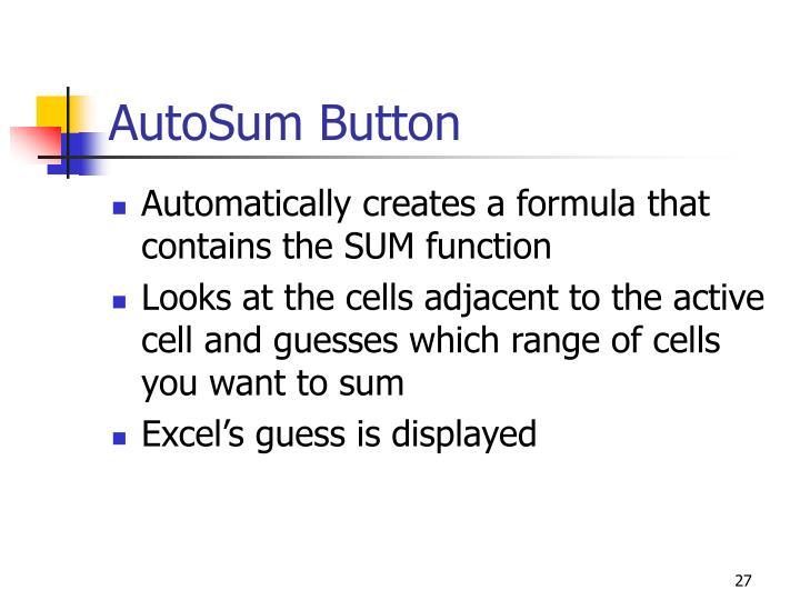 AutoSum Button