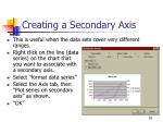 creating a secondary axis