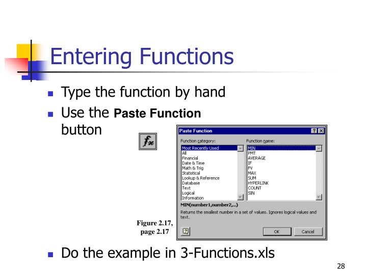 Entering Functions
