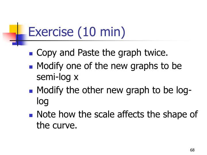 Exercise (10 min)