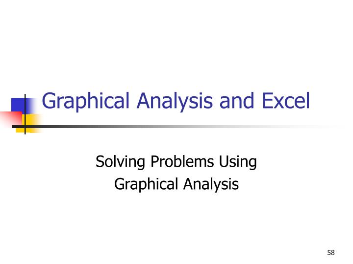 Graphical Analysis and Excel
