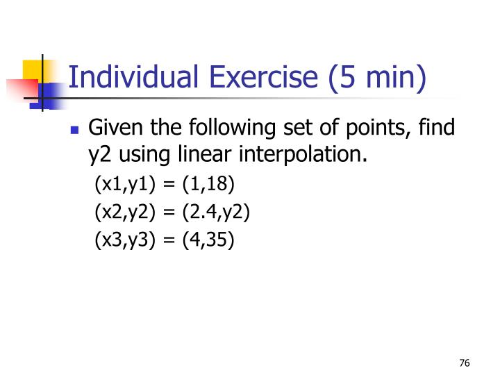 Individual Exercise (5 min)