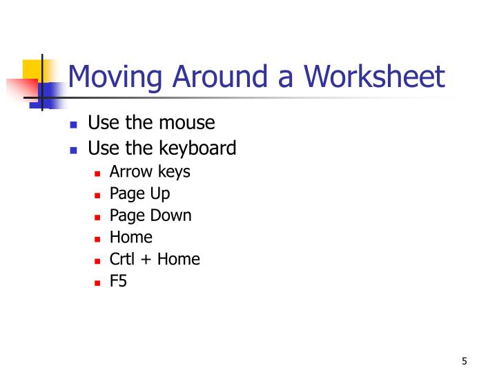 Use the mouse