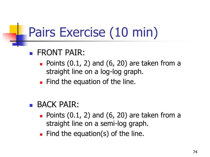 Pairs Exercise (10 min)