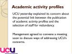 academic activity profiles