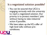 is a negotiated solution possible