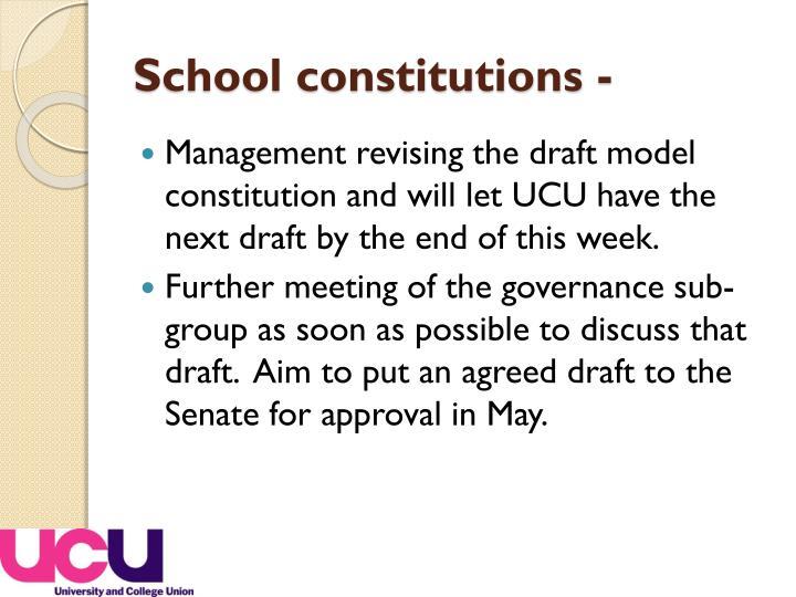 School constitutions -
