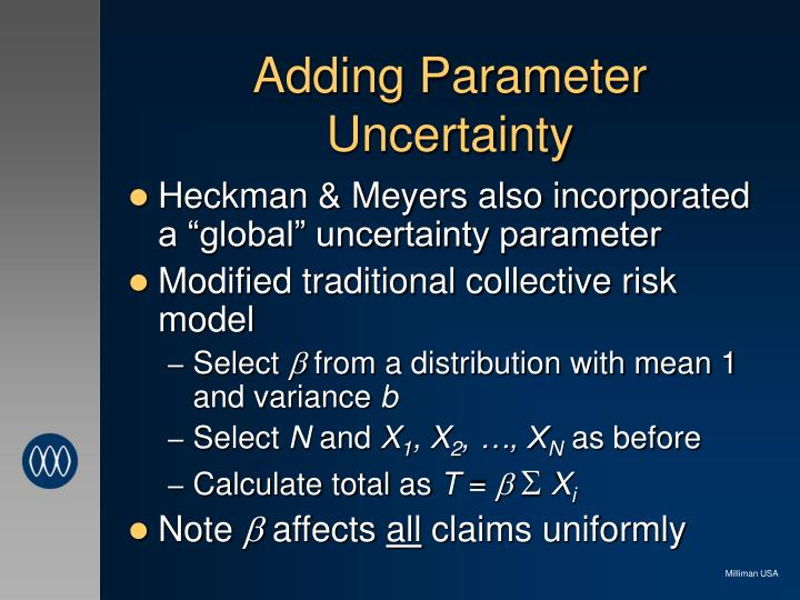 Adding Parameter Uncertainty