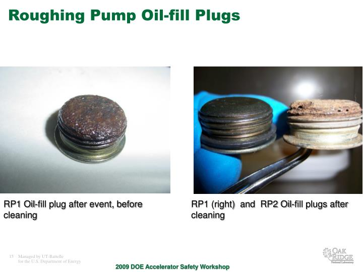 Roughing Pump Oil-fill Plugs