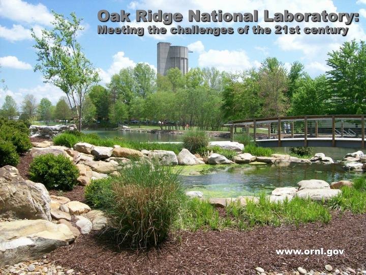 Oak Ridge National Laboratory: