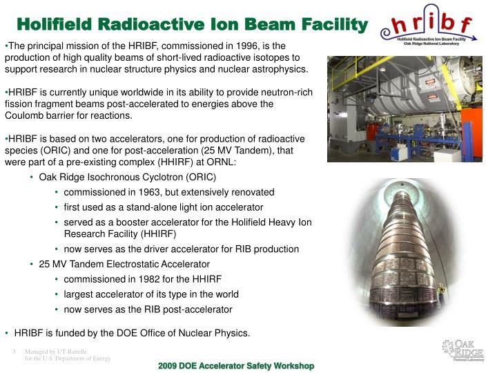 Holifield Radioactive Ion Beam Facility