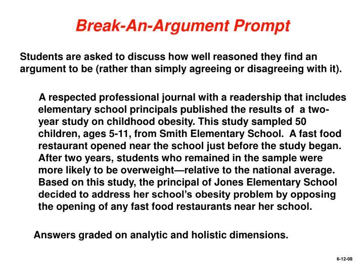 Break-An-Argument Prompt