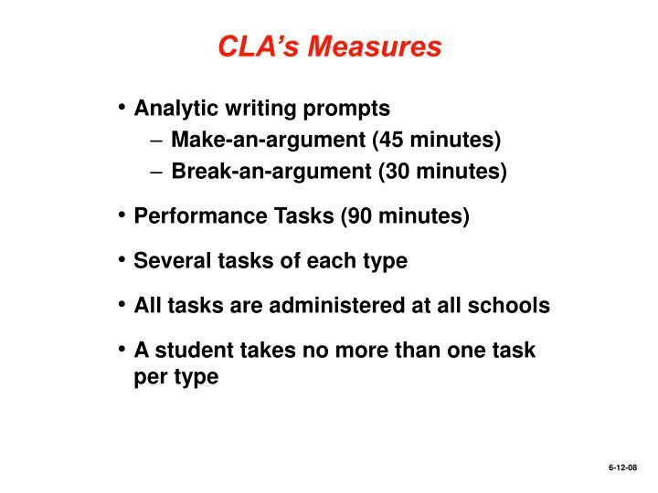 CLA's Measures