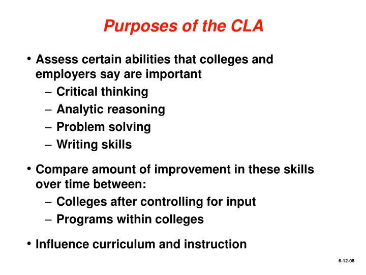 Purposes of the CLA