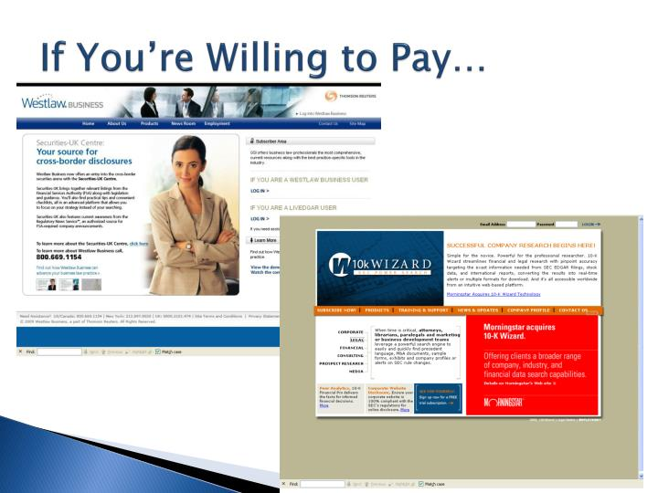 If You're Willing to Pay…