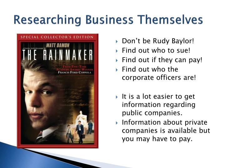 Researching Business Themselves