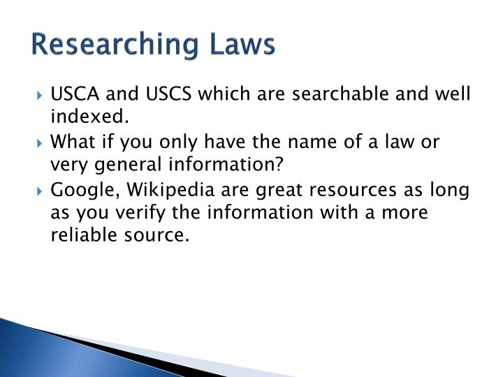 Researching Laws