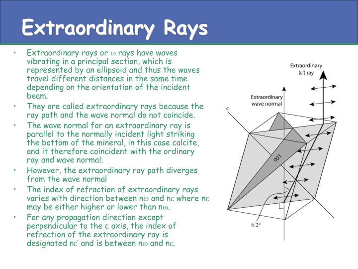 Extraordinary Rays