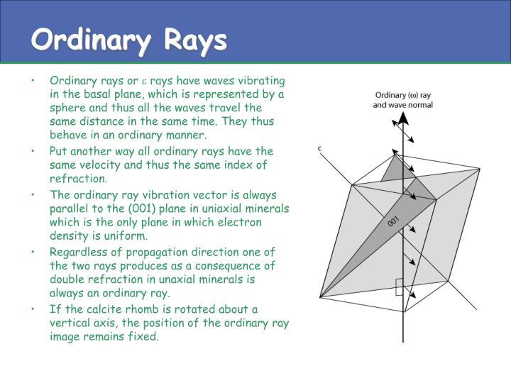 Ordinary Rays