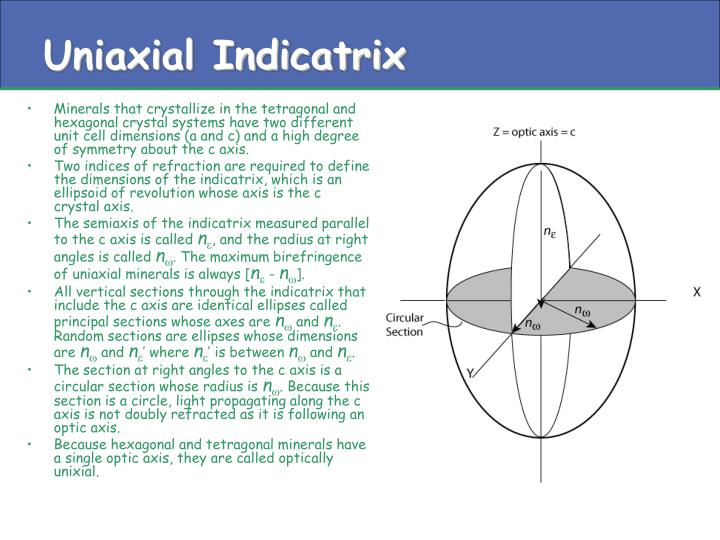 Uniaxial Indicatrix